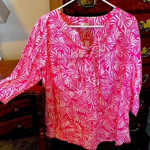 NWT Talbots Woman Pink Cotton Top